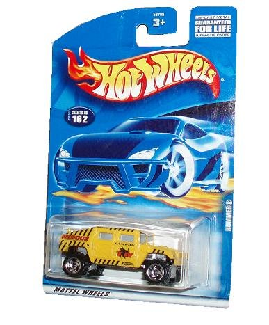 Hot Wheels 2001 Series 1:64 Scale Die Cast Metal Car # 162 - Yellow Camron Rescue Special Unit Sport Utility Vehicle SUV Hummer