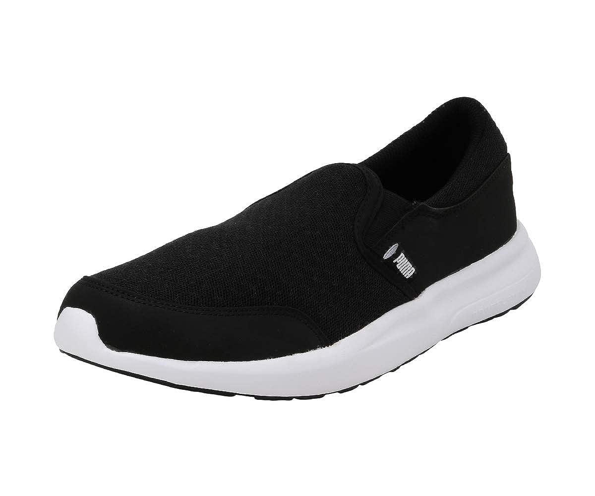 puma slip on black
