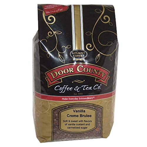 Door County Coffee, Vanilla Crème Brulee, Wholebean, 5lb Bag Brulee 5 Lb Bag