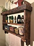 Bathroom Shelf Towel Rack - Farmhouse Style Bathroom Shelf
