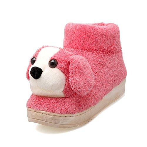 Fankou il delizioso Pacchetto invernale con home il cotone pantofole e spessi, antiscivolo coppie pantofole da camera casa calda scarpe ,37-38, cocomero rosso