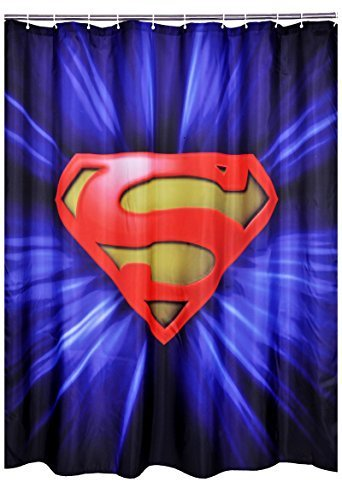 Subrtex Bathroom Waterproof Superman Printed Shower Curtain (Superman 1)