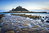 Wallmonkeys WM361636 St Michaels Mount Cornwall Peel and Stick Wall Decals (48 in W x 32 in H)