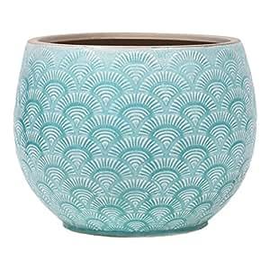 Little Green House Green Ceramic Pot for Flowers