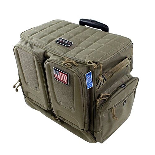 G5 Outdoors GPS Tactical Rolling Range Bag Holds 10 Handguns ()