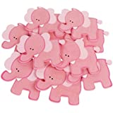 "Homeford FCF2563WP4PK Wooden Animal Cutouts, Baby Favors, 5"", 10 Pack, Pink Elephant,Pink,Elephant"