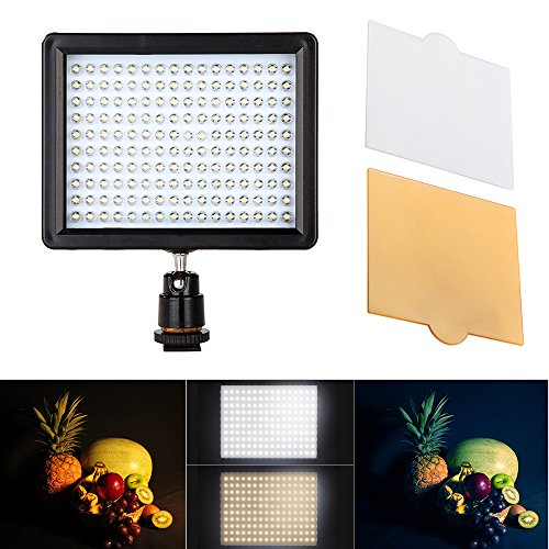 Andoer 160 LED Video Light Lamp Panel 12W 1280LM Dimmable for Canon Nikon Pentax DSLR Camera Video Camcorder (Led Video Light Lamp Panel compare prices)