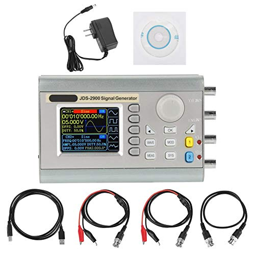 (Akozon JDS2900 DDS Signal Generator Counter,15MHz 30MHz 40MHz 50MHz 60MHz High Precision Dual-Channel Arbitrary Waveform Function Generator Frequency Meter 266MSa/s(60MHz US Plug))