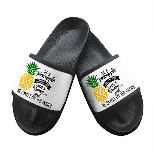 Pineapple House Non Sandals Floor Open Black Shoes Slip Beach Summer Slipper Toe Soft A Slippers Be pI8q5q