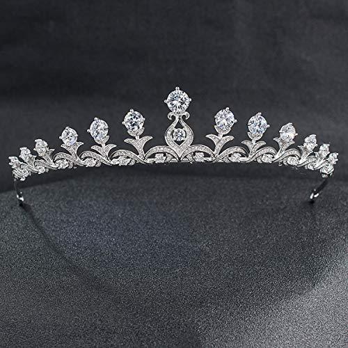 Classic Crystals CZ Cubic Wedding Bridal Tiara Crown Women Hair Accessories Jewelry CH10030