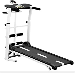 Treadmills for Home Folding, Folding Mechanical Treadmill, Shock Running Supine, T-wisting Draw Rope 4-in-1, Workout Fitness Running Machine, 330 Lbs Weight Capacity MZXDX (Color : Black)