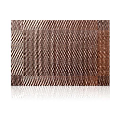 Compatible Placemats table runner,U'artlines 1 piece Crossweave Woven Vinyl Table Runner Washable 30x180cm (Brown, Table runner) by U'Artlines (Image #1)