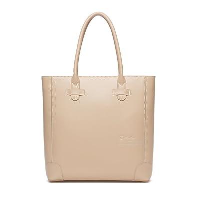 9a336d2c4f349d BOSTANTEN Leather Handbags Tote Purses Top-handle Bags for Women On Sale  Apricot