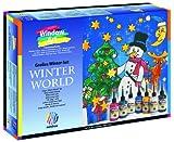 Nerchau 218707 Winter World 7-Piece Window Art Set, Glass Paint, 7 x 80 ml