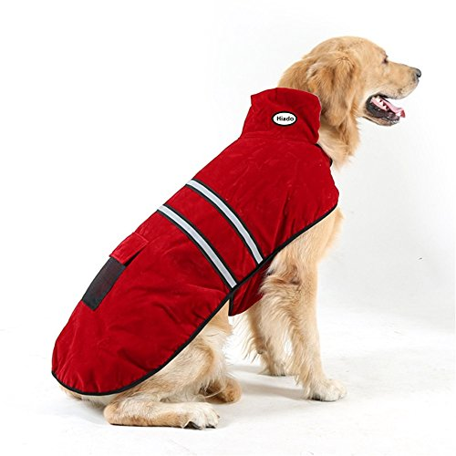 Hiado Dog Pets Winter Coat Vest Dressing with Reflective Belt for Hiking and Hunting in Cold Weather (Xl, X-large, 24 Inch Back Size)