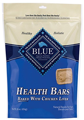 (Blue Buffalo Health Bars for Dogs, Chicken and Liver Crunch, 16-Ounce Bag(2Pack) )