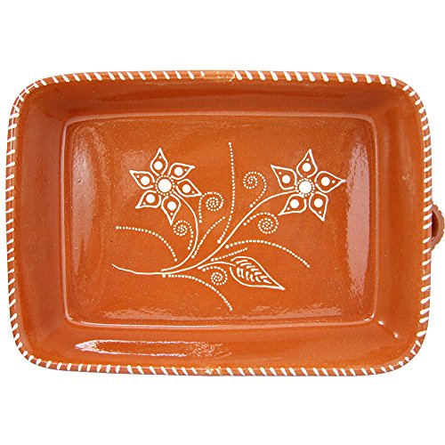 Vintage Portuguese Traditional Clay Terracotta Pottery Roasting Tray Made In Portugal (N.2 13 5/8 x 9 3/4 x 3 1/8'' Inches) by Ceramica Edgar Pinto (Image #6)'