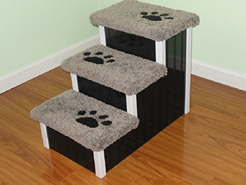 Dog Stair, 18'' High Dog Step, Pet Step for Dogs 5-60 lbs, Pet Furniture, Pet Stair by Hampton Bay Pet Steps