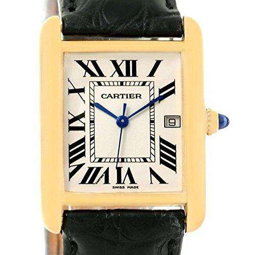 Cartier Tank Louis quartz mens Watch W1529756 (Certified Pre-owned)