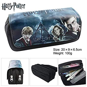 Let it be love Harry Potter Estuche Escolar con Dos Compartimentos