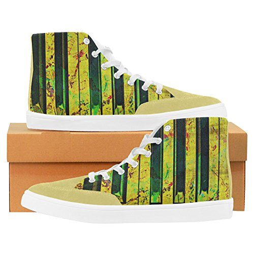Interestprint Piano High Top Zapatos Para Mujeres