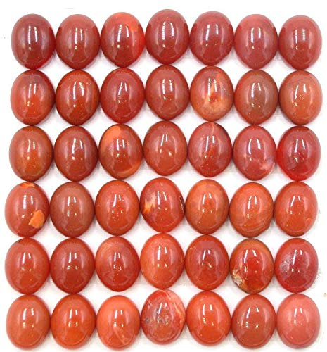 Mexican Fire Opal Dark 8x10mm Oval Cabochons (pkg of 6 cabs) ()