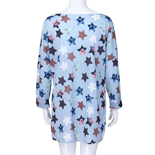 Promotion! Womens Tops Clearance, Seaintheson Women Casual Five-pointed Star Print Plus Size Long Sleeve Shirt Blouse Pullover Tops: Amazon.com: Grocery ...