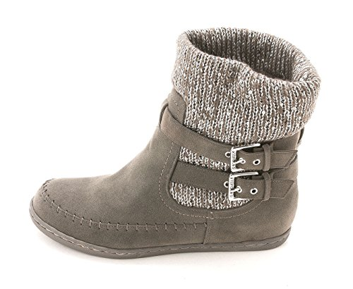 G by GUESS Womens Riesling Round Toe Ankle Cold Weather, Grey Multi, Size - Guess Boots Grey