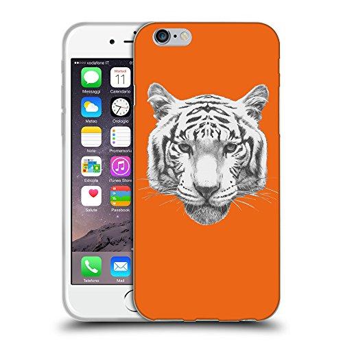 """GoGoMobile Coque de Protection TPU Silicone Case pour // Q05470632 tigre blanc Sécurité Orange // Apple iPhone 6 4.7"""""""