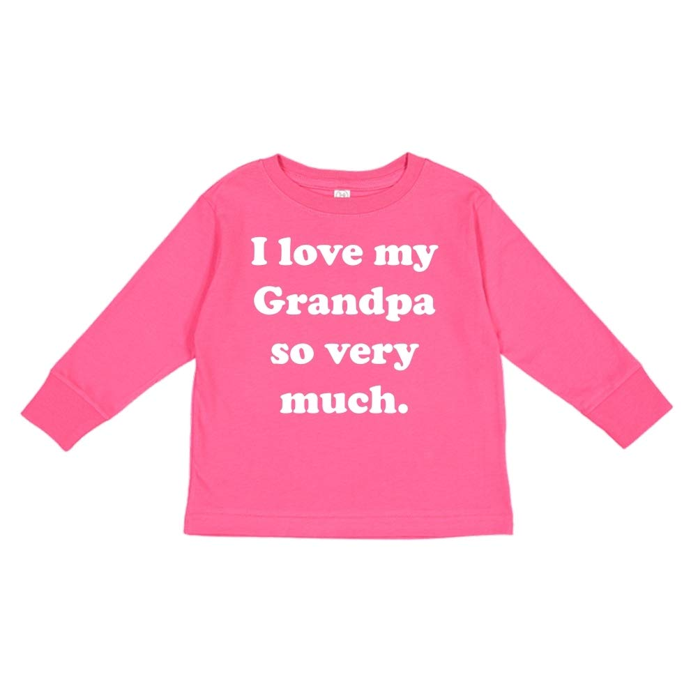 Toddler//Kids Long Sleeve T-Shirt I Love My Grandpa So Very Much