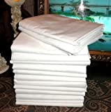 24 (2 Dozen) Large 66x104'' Premium Bright White Massage Table Flat Draw Sheets Linen Soft Finish New