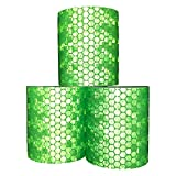 Viewm Reflective Tape 3 Rolls Safety Warning Tapes 2 inch × 3.28 yard / 5cm × 3m (Green)