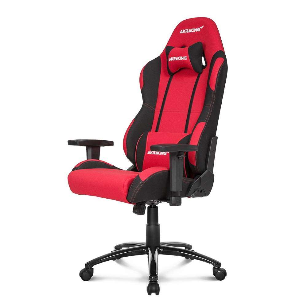 AKRacing Core Series EX Gaming Chair with High Backrest, Recliner, Swivel, Tilt, Rocker and Seat Height Adjustment Mechanisms with 5/10 Warranty - Red/Black
