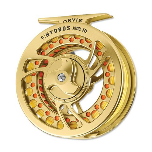 Orvis Hydros Large Arbor IV Fly Reel, Gold - with free $20 gift card
