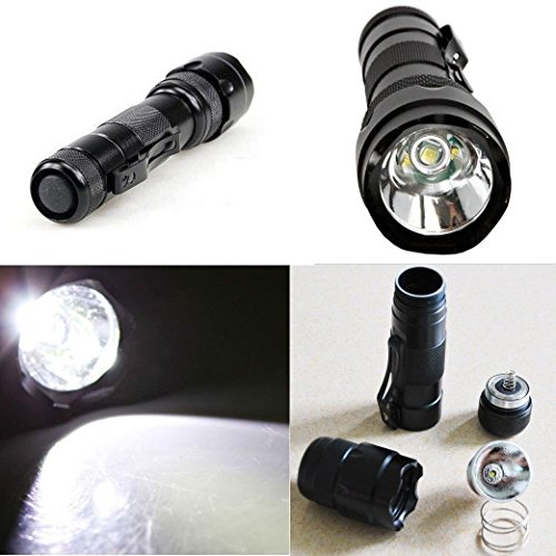 Hotenergy Ultrafire WF-502b Cree XM-L T6 5 Mode LED Flashlight Torch With Battery and Charger US Fast Shipping