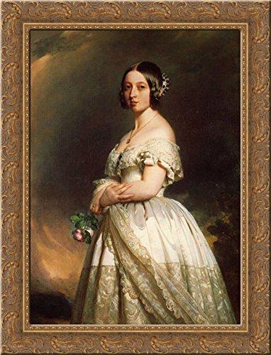 Queen Victoria 20x24 Gold Ornate Wood Framed Canvas Art by Winterhalter, Franz Xavier