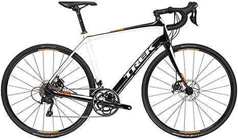 Trek Domane 4.3 disc, Carbon, bicicleta de carretera, 2015, colour blanco y negro Naranja, RH 54: Amazon.es: Deportes y aire libre