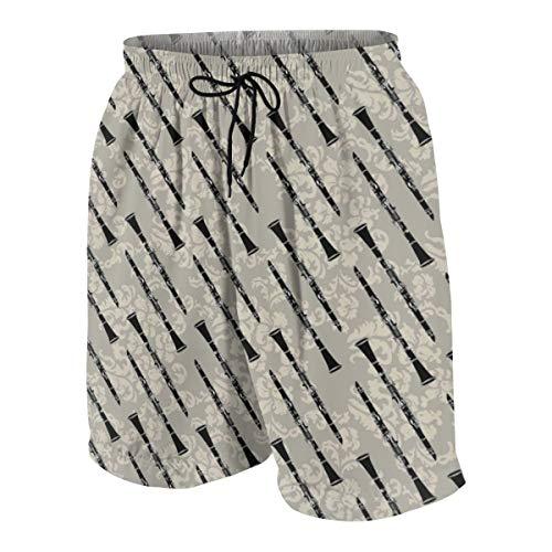 (Clarinet Musical Instrument Boys Quick Dry Beach Board Shorts Kids Swim Trunk Swimsuit Beach Shorts)