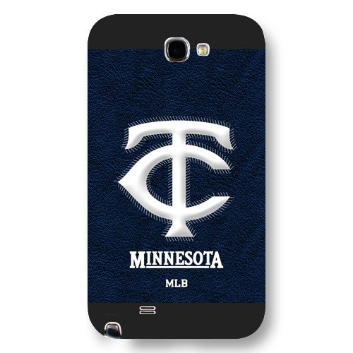 Galaxy Note 2 Case, Onelee(TM) MLB Minnesota Twins Samsung Galaxy Note 2 Case [Black Frosted Hardshell]