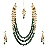 Aheli Kundan Long Necklace Earring Set for Women Wedding Party Bollywood Ethnic Traditional Style Jewelry
