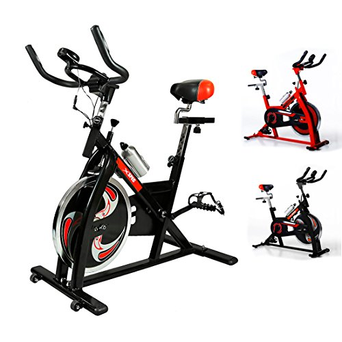 NEW Xspec Pro Stationary Upright Exercise Bike Indoor Cycling Bicycle, Pro Black/ProRed/Blue Advanced/Red Advanced