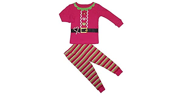 2f0cb4968fab Amazon.com  Koala Kids Pink Santa Suit Baby Girls Christmas Pajamas ...