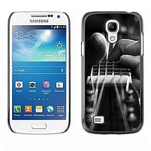 Caucho caso de Shell duro de la cubierta de accesorios de protección BY RAYDREAMMM - Samsung Galaxy S4 Mini i9190 - Guitarra Mano