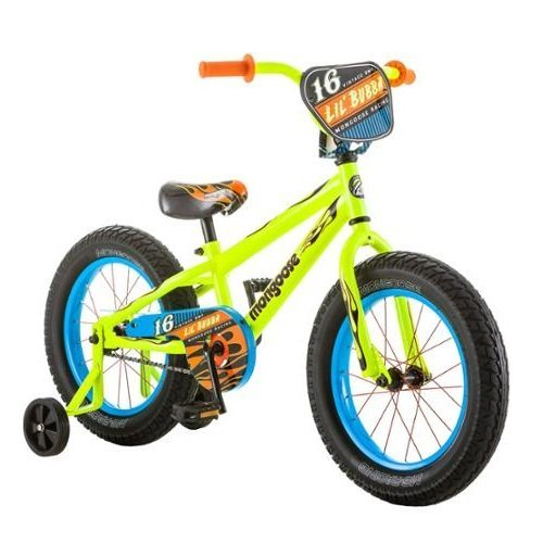 16 Inch Mongoose Lil Bubba Boys' Bike, Neon Yellow