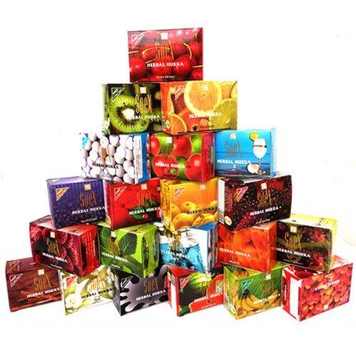 25 PacksX 50g Mixed Lot Herbal Shisha Flavored Molasses for Hookah Hukka Hooka