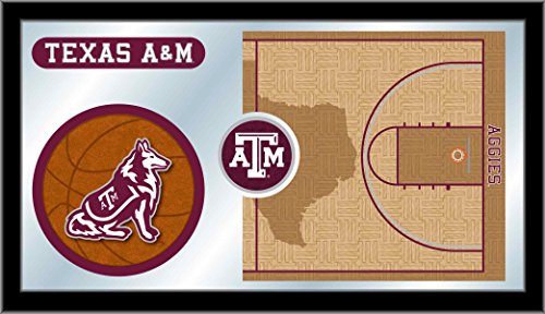(Holland Bar Stool Co. Texas A&M Aggies HBS Basketball Framed Hanging Glass Wall Mirror (26