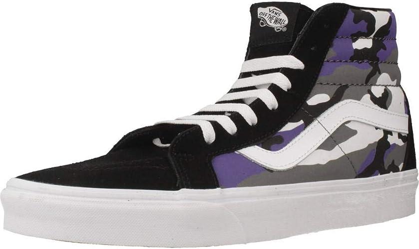 Vans CAMO POP Mens Black and Purple