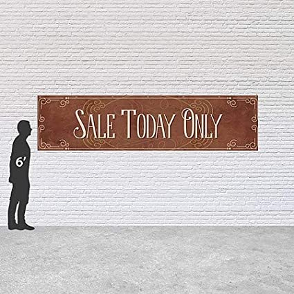 16x4 Victorian Card Heavy-Duty Outdoor Vinyl Banner Sale Today Only CGSignLab