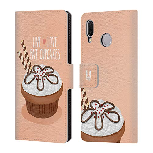Head Case Designs Chocolate Wafer Cupcakes Happiness Leather Book Wallet Case Cover for Asus Zenfone Max (M1) ZB555KL