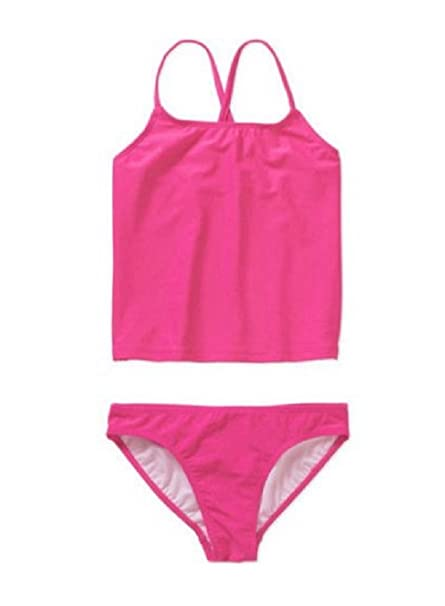 774b62b6af Amazon.com: Girls Ocean Pacific OP Hot Pink Tankini Swimsuit (Large ...